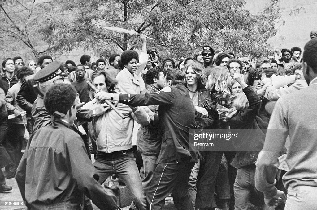 9/24/1969Chicago IL Demonstrators attack Chicago Police Captain Paul McLaughlin and an unidentified sergeant during a clash outside the Federal...
