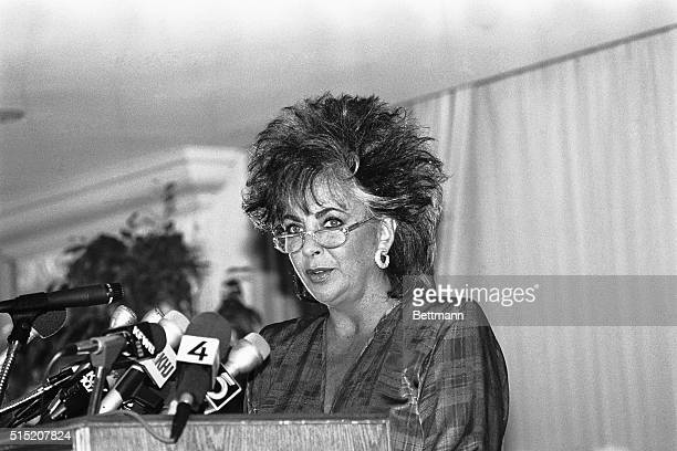 9/26/1985Los Angeles CA Actress Elizabeth Taylor who took up a 'personal war' against AIDS after her friend Rock Hudson was stricken with the ailment...
