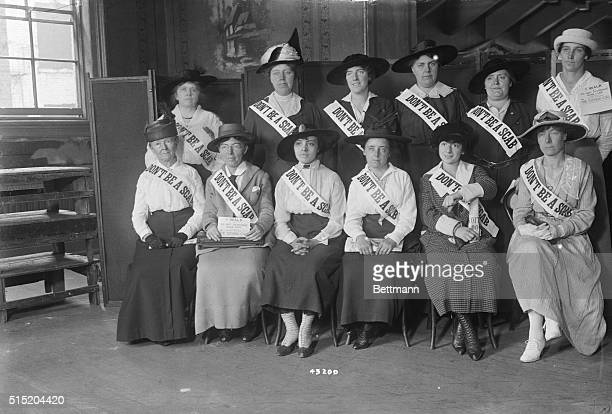 9/27/1916New York NY Some of the women delegates who attended the meeting held at Beethoven Hall New York City in aid of the striking car men...