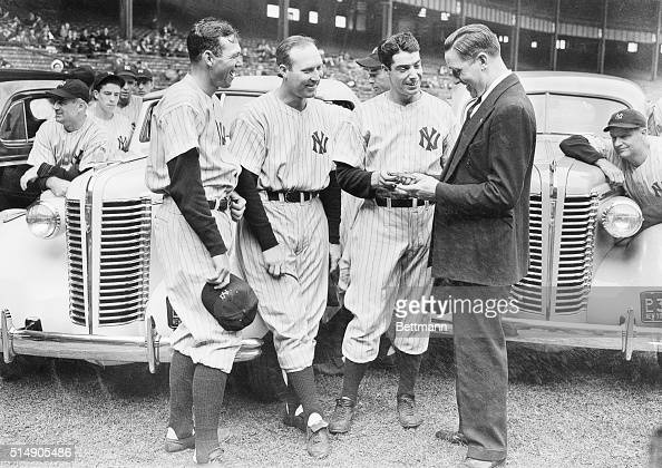 9/27/1938New York City The Yankee Stadium was turned into a parking lot when Bill Dickey Red Ruffing and Joe DiMaggio members of the American League...