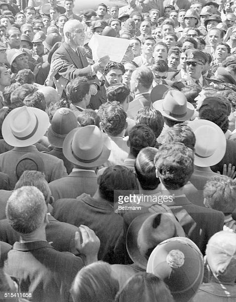 9/27/1951Tehran Iran Iranian Premier Mohammed Mossadegh addresses a crowd during the critical days of the AngloIranian oil dispute
