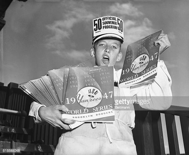 9/30/1947New York NY Yankee and Dodger fans are jamming the Yankee Stadium today for the opening of the World Series to root for their teams To WM...