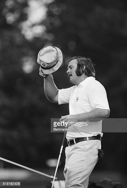 9/3/1973Toledo OH Craig Stadler La Jolla CA takes hat off after capturing U S Amateur title on the 31st hole during final round of USGA National...
