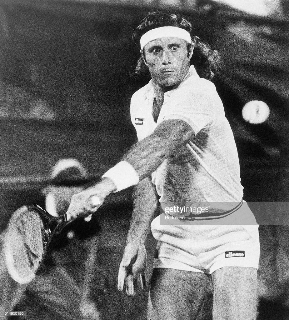 Action Shot of Guillermo Vilas