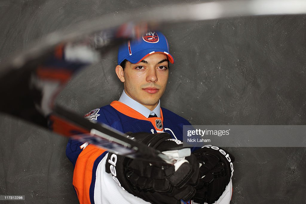 95th pick overall Robbie Russo by the New York Islanders poses for a portrait during day two of the 2011 NHL Entry Draft at Xcel Energy Center on June 25, 2011 in St Paul, Minnesota.