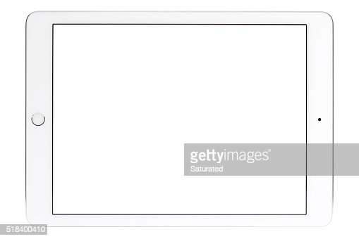 9.7-inch iPad Pro With White Screen - Horizontal