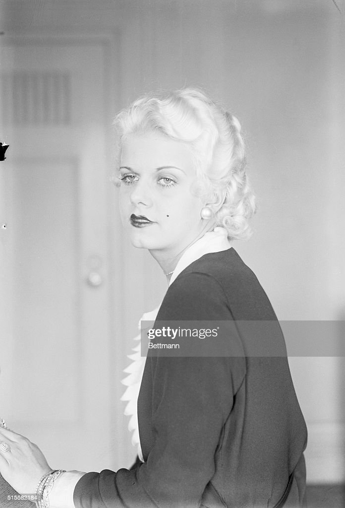 Photo shows Jean Harlow beautiful screen star who's in New York on first visit to New York City Jean is through with marriage she says her marital...