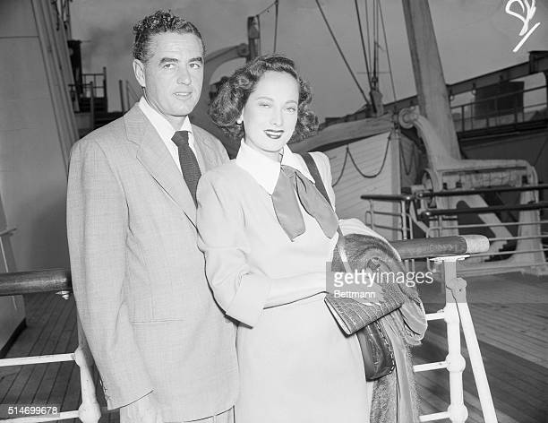 Among the nearly two thousand arrivals on the SS Queen Mary Today were Lucien Ballard and Mrs Ballard The latter is better known to American movie...