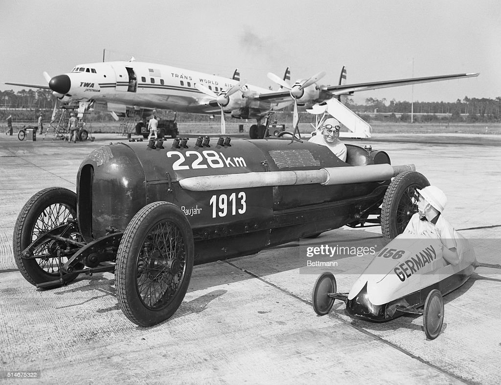 soap box and antique racing car pictures getty images