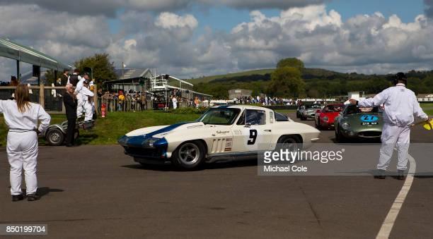 1965 Chevrolet Corvette Sting Ray driven by entrant Craig Davies Jason Plato in the RAC TT Celebration at Goodwood on September 9th 2017 in...