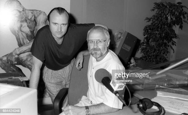 MELBOURNE AUSTRALIA – FEBRUARY 9th 1989 Phil Collins during interview at radio Station 3AW Philip David Charles 'Phil' Collins LVO is an English...