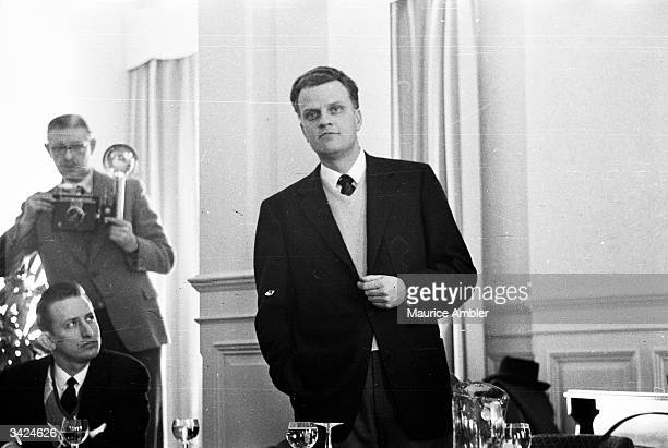 American evangelist Billy Graham begins his AllScotland Crusade with a press conference in Glasgow Billy Graham's Christian rallies attract large...