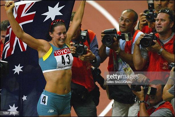 9Th Athletics World Championship In St Denis On August 28 2003 In StDenis France Australia'S Jana Pittman Wins The Gold Medal In The Women'S 400...