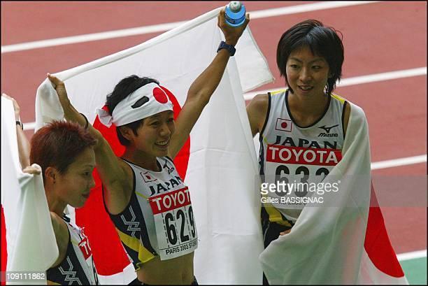 9Th Athletics World Championship In St Denis On August 31 2003 In SaintDenis France Masako Chiba Mizuki Noguchi and Naoko Sakamoto 3Rd 2Nd And 4Th In...