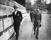 Sir Samuel Hoare 1st Viscount of Templewood and Foreign Secretary arriving at the Foreign Office