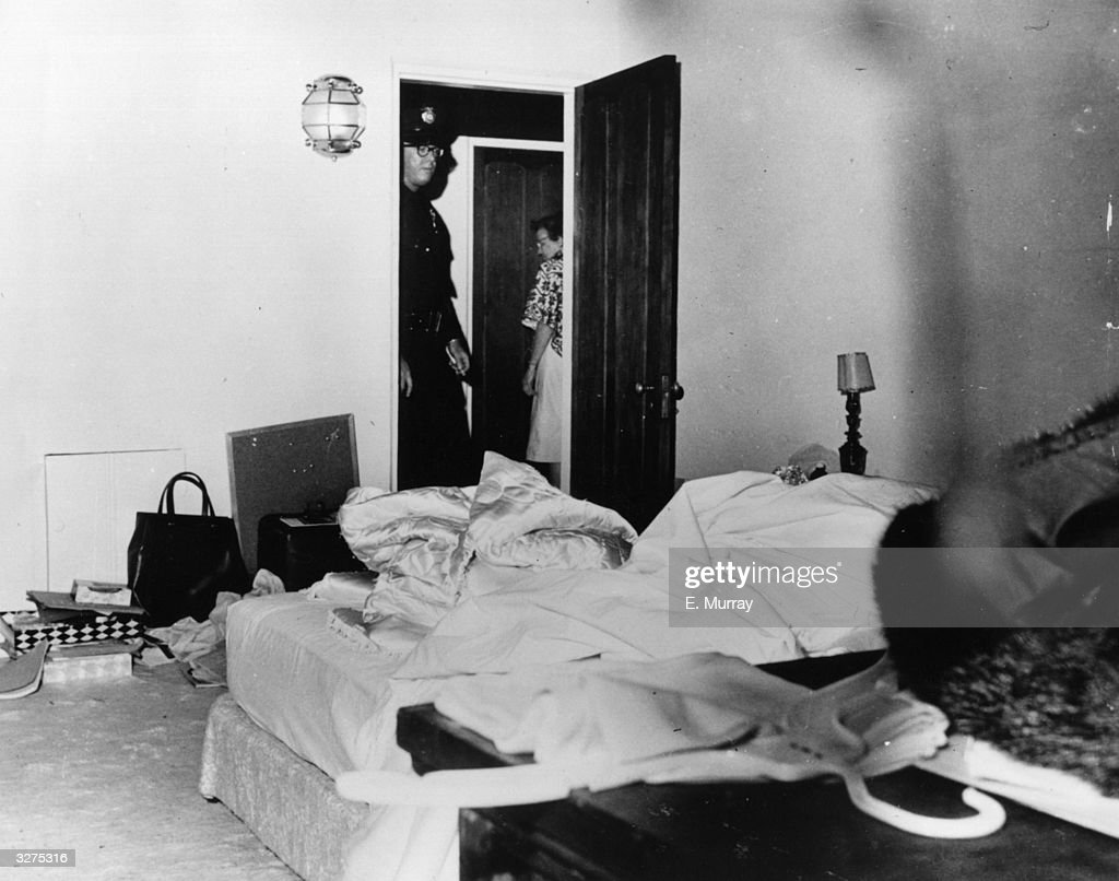 The room where film actress Marilyn Monroe (Norma Jean Mortenson or Norma Jean Baker, 1926 - 1962) died.