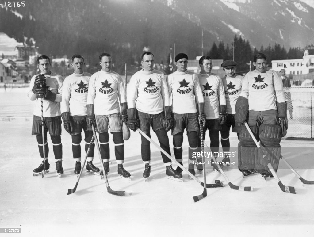 The Winter Olympics Chamonix The Canadian ice hockey team the Toronto Granites who beat the United States in the final 61 to take the gold medal