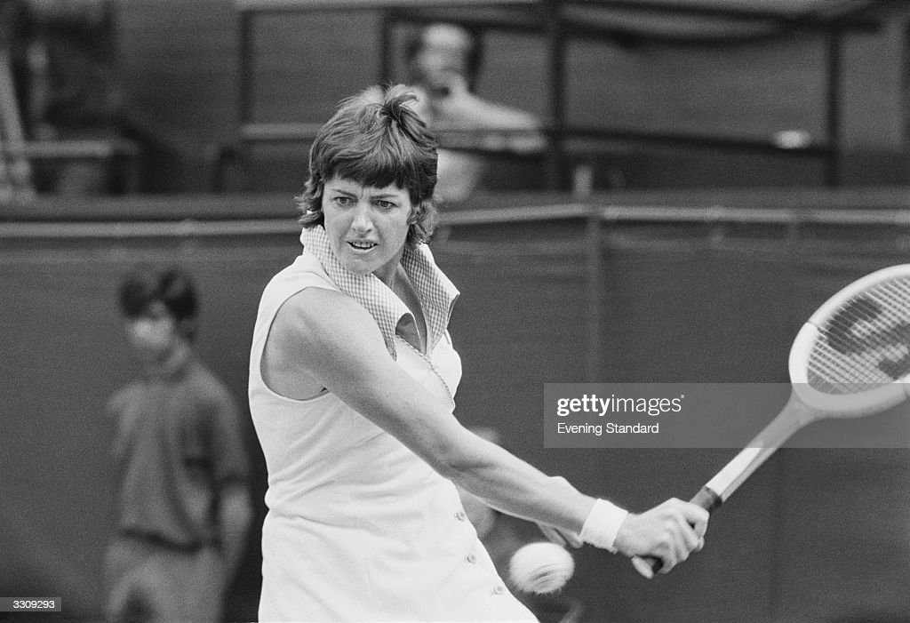 Margaret Court of Australia in action at the Wimbledon Tennis Championships