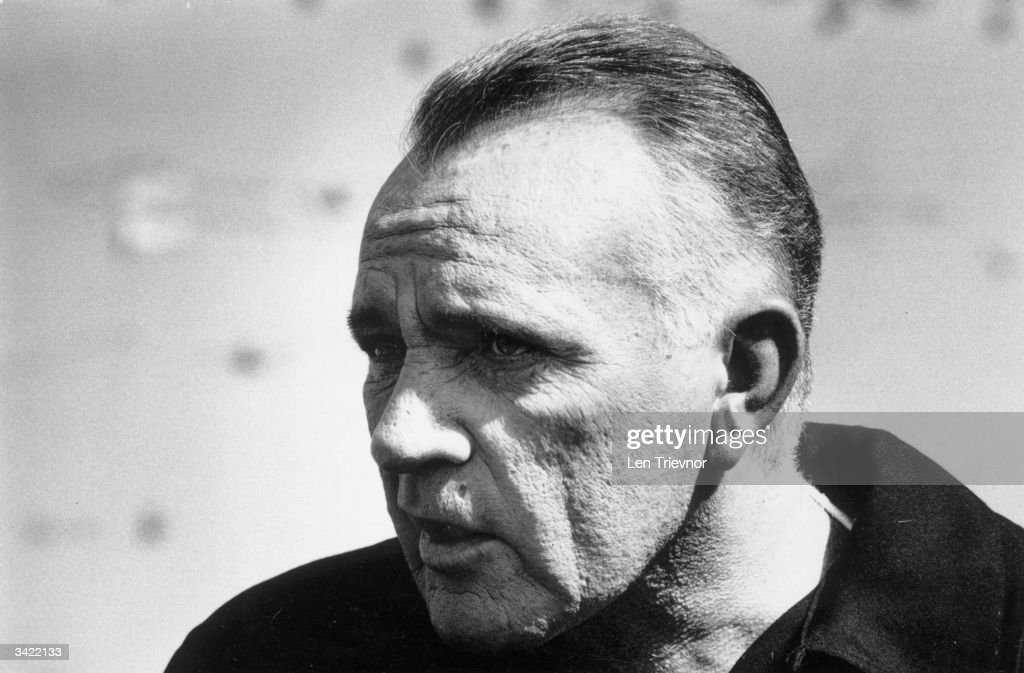 Welsh actor Richard Burton (1925 - 1984) during the filming of '1984'.