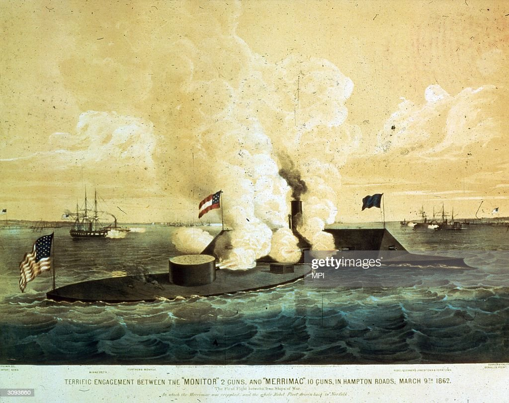 the battle between the uss monitor and the css merrimack On march 9, 1862, during the civil war, the monitor and the virginia (also known as the merrimac) clashed to a draw at hampton roads, va, in the first battle between two ironclad warships.