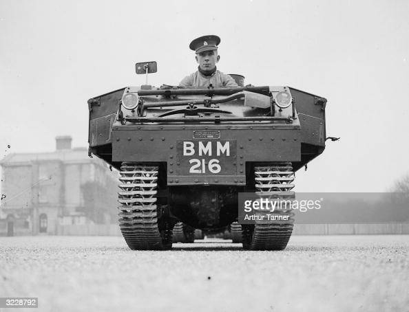 A GardenLloyd utility tractor used by the 4th Queen's Own Hussars based at Aldershot The machines are replacing the Regiment's horses and are mainly...