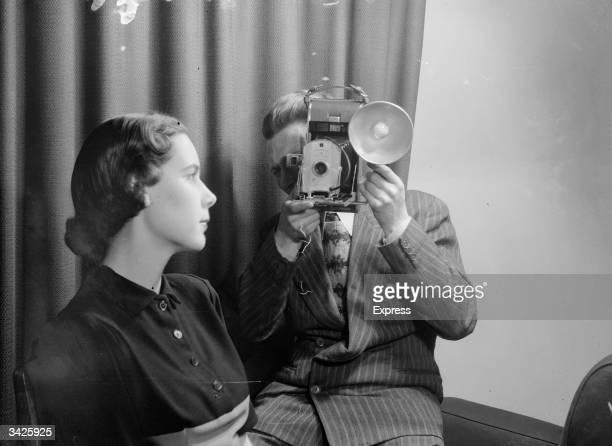 A polaroid instant camera