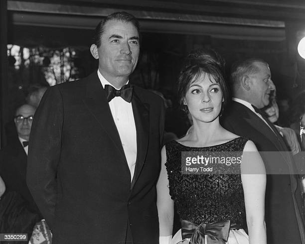 American actor Gregory Peck with his wife Veronique at the premiere of his new film 'To Kill A Mocking Bird' at the Odeon Leicester Square London