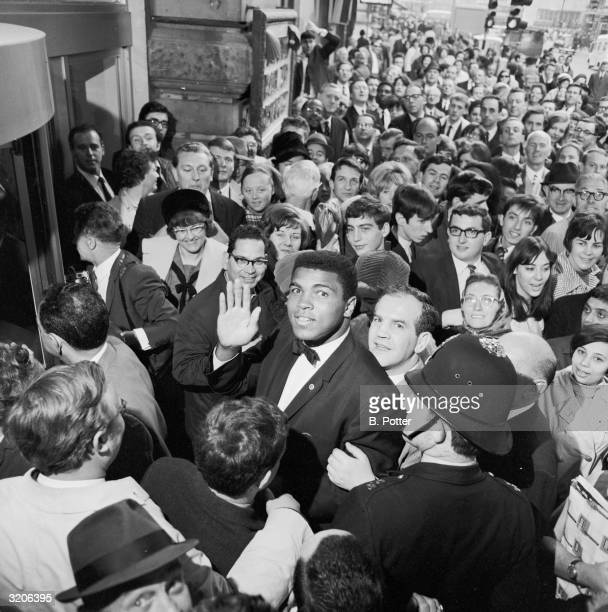 US boxer Cassius Clay at his West End Hotel during his stay in London to fight Henry Cooper