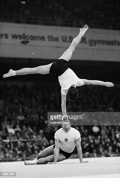 Two members of the Russian gymnastics team Vladimir Nazarov and Vladimir Alimanov performing at Earl's Court