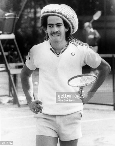 Jamaican tennis player G Russell at the Shinners Sutton tennis tournament