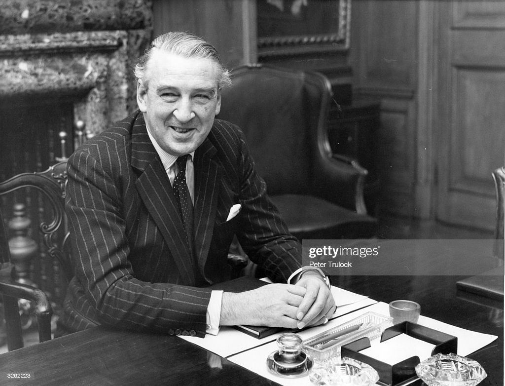 Lord Cromer the British Ambassador to the United States in his office at Baring Brothers London