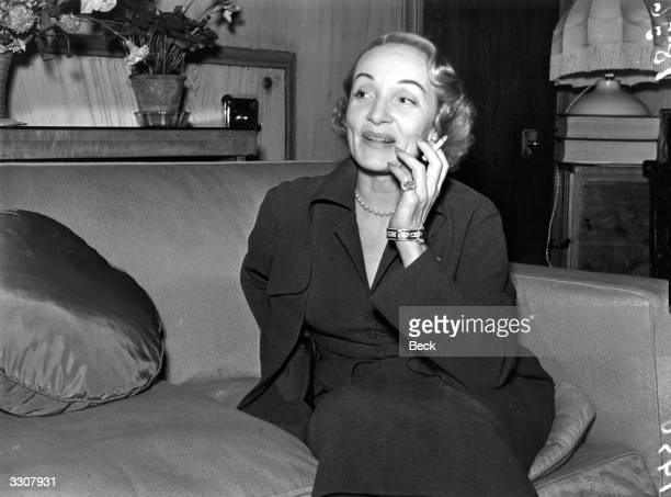 Germanborn US actress Marlene Dietrich in London