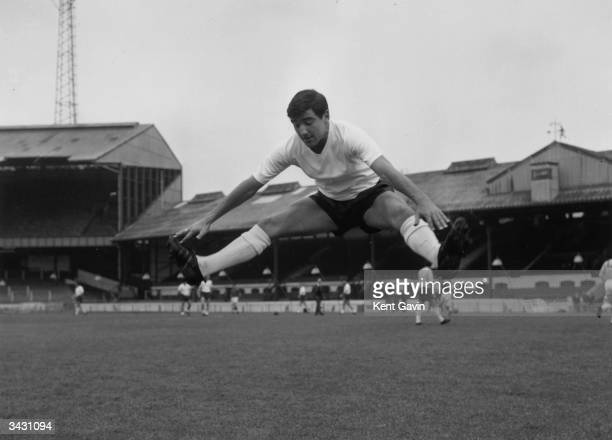 Chelsea footballer Terry Venables during a training session at Stamford Bridge