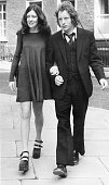 Mrs Ann Reed with her husband John Anne is sporting a pair of ankle strapped platform sole shoes a 70's fashion trend