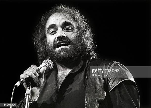 Greek singer Demis Roussos performs live on stage at the Platen 10daagse at Ahoy in Rotterdam Netherlands on 9th October 1984