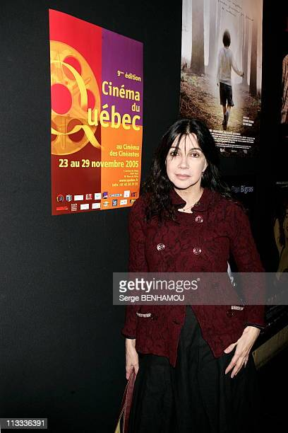 9Th Quebec Film In Paris On November 23Rd 2005 In Paris France Here Carole Laure