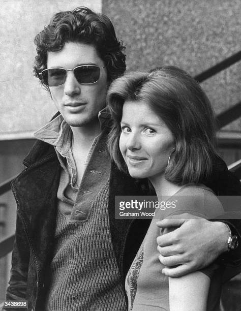 American actor Richard Gere with actress Stacey Gregg The couple star in the London stage production of 'Grease'