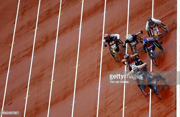 9th World Athletics Championships 2003 Men's 1500m Wheelchair Final The competitors in action Championnat du Monde d'Athletisme 2003 Handisport 1500m...