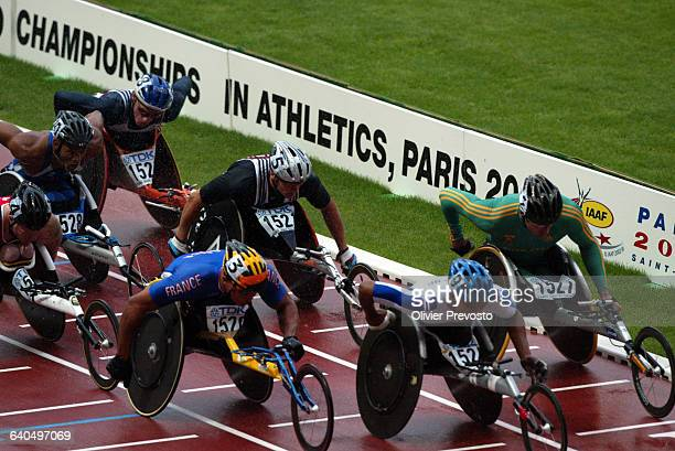 9th World Athletics Championships 2003 Men's 1500m Wheelchair Final Joel Jeannot wins gold Championnat du Monde d'Athletisme Handisport Joel Jeannot...