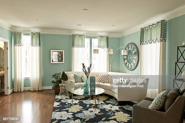 The Living Room in the Mozart Model Home at Fieldside on January 09 2014 in Waldorf Maryland