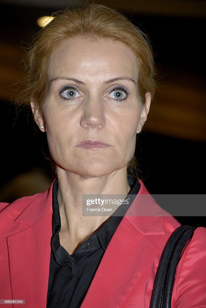 DENMARK / COPENHAGEN _Helle ThorningSchmidt Social democrat party leader and Incomming prime minister of of denmark at Press lunch with Danish...
