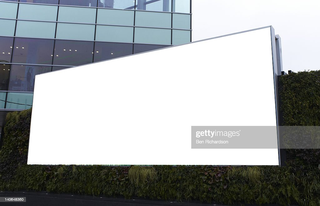 a blank advertising billboard : Stock Photo
