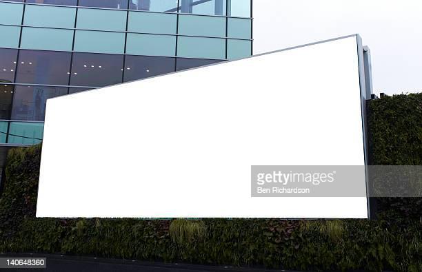 a blank advertising billboard