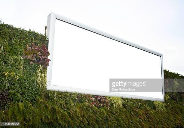 a blank advertisng billboard