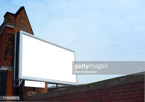 a blank billboard : Stock Photo