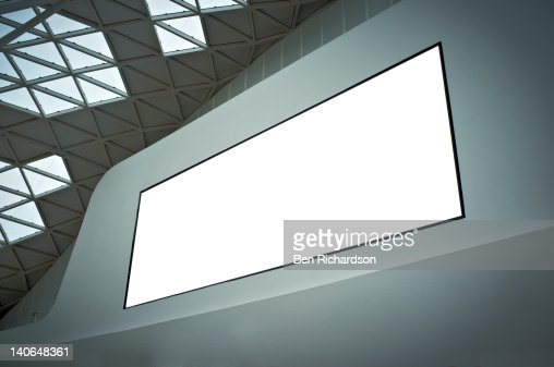 a blank billboard : Stock Photo