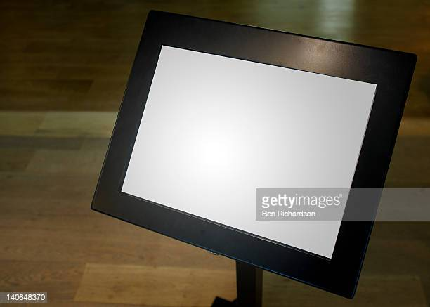 a blank menu board