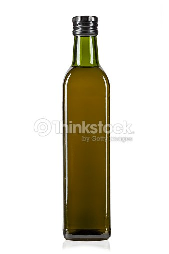 A Bottle Of Olive Oil Isolated On A White Background Stock