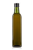 a bottle of olive oil isolated on a white background. File contains clipping path.