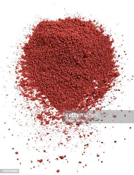 a close up image of sumac powder.